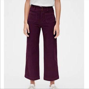 GAP High Rise Mariner Wide-Leg Corduroy Pants